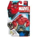 Hasbro Marvel Universe Year 2008 Series 1 Single Pack 4-1/2 Inch Tall Action Figure #28 - RED HULK with S.H.I.E.L.D File with S