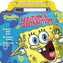 Bendon SpongeBob Squarepants Addition and Subtraction Write and Wipe Board Book with Marker