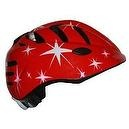 RUNT Childs Helmet: Red with Pink & White Stars