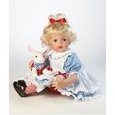Alice in Wonderland Doll, Alice and The White Hare, 21 inch Caressalyn Vinyl (Artist: Kathy Smith-Fitzpatrick)