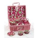 Delton Childrens Tin Tea Set with Daisies on Pink