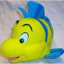 "10"" X 7"", Disney Little Mermaid, Flounder Plush Stuffed Doll Toy"