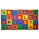Build Plus Play 56-Piece Build And Play Alphabets Play Mat 7 x 4
