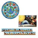 Melissa & Doug Solar System, Children of the World, and Alphabet Train Floor Puzzle Bundle (Set of 3)