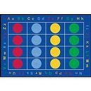 Learning Carpets CPR463 - Abc Dots Rectangle, Small  ABC Dots Rug