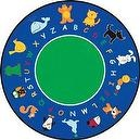 Learning Carpets CPR400 - Fun With Animals Round, Small  Fun With Animals Rug