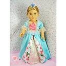 "** RUBY ROSE ** Fairy Princess - NEW Aqua Corset Victorian Gown (blue crown sold separately)~ Fits 18"" American Girl Dolls"