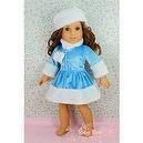 "** RUBY ROSE ** Blue Christmas Winter Outfit with Furry Hat ~ Fits 18"" American Girl Dolls"