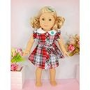 "** RUBY ROSE ** Striped Garden Playing Outfit & Hair Pin ~ Fits 18"" American Girl Dolls"