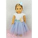 "** RUBY ROSE ** Fairytale Princess - Aqua Blue Lace Dress ~ Fits 18"" American Girl Dolls"