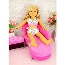 "** RUBY ROSE ** Dolls SOFA Set - Relax Lounge Chair and Jewelry Storage ~ Fits 18"" American Girl Dolls"