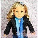 "** RUBY ROSE ** Super Star Jennifer Anistons Full Grain Black Leather Jacket ~ Fits 18"" American Girl Dolls"