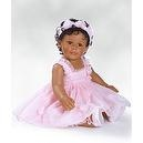 """Charisma Marie Osmond Doll African American Doll 13"""" Peyton (Seated in Porcelain)"""