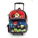 "16"" Angry Birds City Night Rolling Backpack-bag-tote-school"