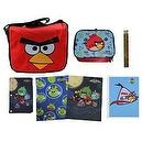 Angry Birds Messenger Bag & ULTIMATE Back to School Set includes Lunch Tote, Folders, Spiral, Pencils and More