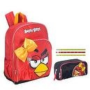 Angry Bird She Bird 16 Inch Backpack with Angry Birds She Bird Accessory Case and Bonus Angry Birds Pencils