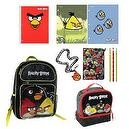 "ANGRY BIRDS 16"" Backpack & ULTIMATE Back to School Set includes Lunch Tote, Folders, Spiral, Pencils, Lanyard & More"