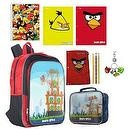 Angry Bird 16 inch Lenticular Backpack ULTIMATE Back to School Set includes Lenticular Lunch Kit