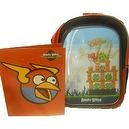"Angry Birds Lenticular ""Green Pig Scene"" 16 inch Kids Backpack - Black & Red & BONUS FOLDER"