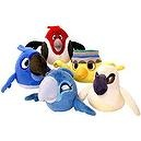 Angry Birds Rio Set of 5 Talking Rio 5 Inch MINI Plush Figures Blu, Jewel, Pedro, Nico Nigel