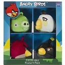 "Piglet, White & Red & Black Birds: ~3"" Angry Birds 4 Mini-Plush Pack Series (No Sound)"