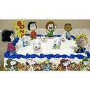 "Peanuts Snoopy 16 Piece Birthday Cake Topper Set with 5 Snoopy 1"" Figures, 11 Decorative Peanuts Cake Pieces Including Lucy, Pe"