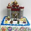 Super Deluxe Mario 19 Piece Birthday Cake Topper Set Featuring Warios Castle, Diddy Kong, Donkey Kong, Boo Ghost, Goomba, Wari