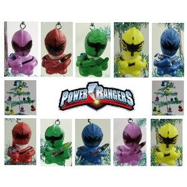 Power Rangers Christmas Tree.Unique Set Of Power Rangers Christmas Tree Ornaments