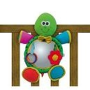 Edushape Turtle Shaped Soft Mirror Crib Toy