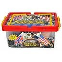 Civil War Army action figure Playset with Over 100 Pieces and Playmat in Collectors Carrying Case