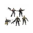 True Heroes 4 Inch Military Soldiers 5-pack Action Figures (Military Men Vary)