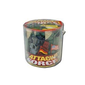 WWII US vs. Germany Plastic Army Men Soldier Bucket: 100+ Pieces with Troops, Vehicles, Tanks, Artillery, and More!