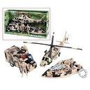 Super Warrior Vehicle Helicopter Military Toy Play Set