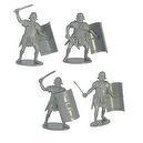 Roman Infantry Plastic Army Men: 16 piece set of 54mm Gray Figures - 1:32 scale