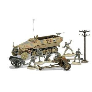 Unimax forces of Valor 1:72Nd Scale German Sd. Kfz. 251/1 and 75Mm Pak 40 Set D - Day Series