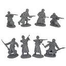 WWII Longcoat German Infantry Plastic Army Men: 16 piece set of 54mm Figures - 1:32 scale