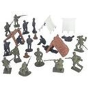 50 Piece Civil War Union Camp Playset with Tents, Lean-tos, camp fires, Union and Confederate Plastic Army Men 1/32nd 54mm Fig