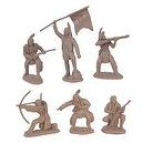 Plains Indian Warriors Plastic Army Men: 12 piece set of 54mm Figures - 1:32 scale