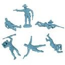 Civil War Dismounted Cavalry with Casualties Plastic Army Men: 12 piece set of LIGHT BLUE 54mm Figures - 1:32 scale