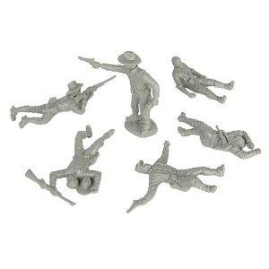 Civil War Dismounted Cavalry with Casualties Plastic Army Men: 12 piece set of GRAY 54mm Figures - 1:32 scale