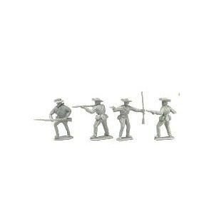 American Civil War - Confederate Soldiers: 8 piece set of 54mm Plastic Army Men Figures - 1:32 scale