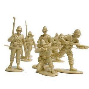 The Zulu War - British Infantry At Islandwana Plastic Army Men: 16 piece set of 54mm Figures - 1:32 Scale