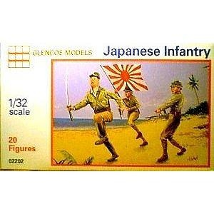 WWII - Japanese Infantry: 20 piece set of 54mm Plastic Army Men Figures - 1:32 Scale