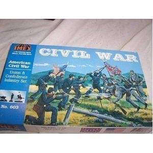 Union-Confederate Infantry Set Civil War Figures by Imex