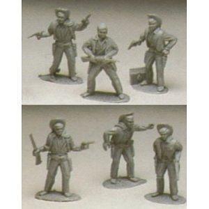 Western Cowboys: 8 piece set of 54mm Plastic Army Men Figures - 1:32 scale