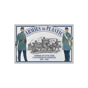 American Civil War 1861-1865 Confederate Marines (20) 1/32 Armies in Plastic