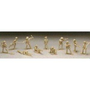 British 8th Army with Monty: 11 piece set of 54mm Plastic Army Men Figures - 1:32 scale
