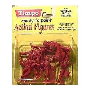 British Infantry at Waterloo: 8 piece set of 54mm Plastic Army Men Figures - 1:32 scale