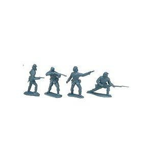 American Civil War - Union Soldiers: 8 piece set of 54mm Plastic Army Men Figures - 1:32 scale