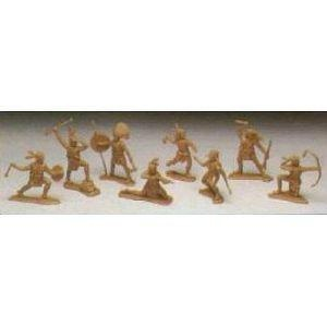 American Indians: 8 piece set of 54mm Plastic Army Men Figures - 1:32 scale